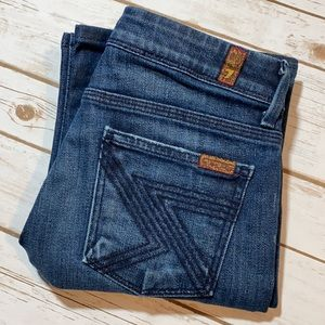 7 For All Mankind Jeans Flynt Boot Cut 26 Short